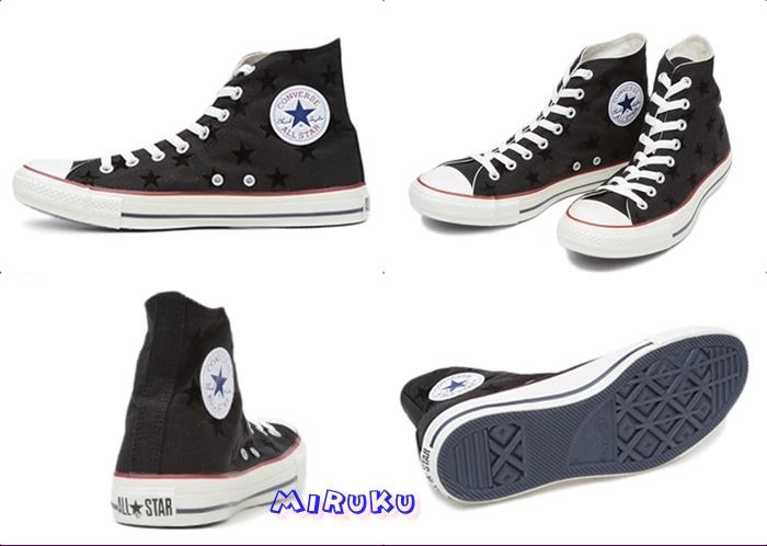 CONVERSE-限定星星浮印高桶鞋-01